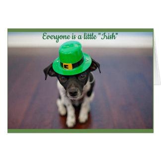Tarjeta Un pequeño perrito irlandés