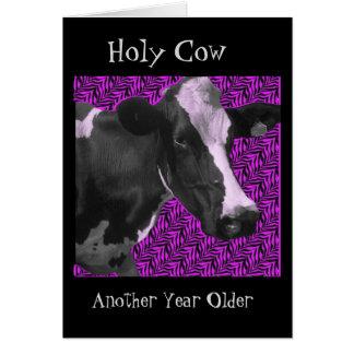 Tarjeta Un qué feliz cumpleaños de la vaca