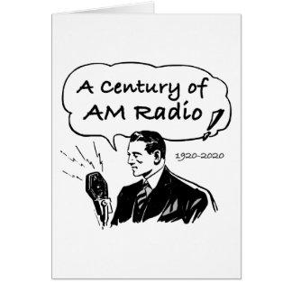 Tarjeta Un siglo de radio de la