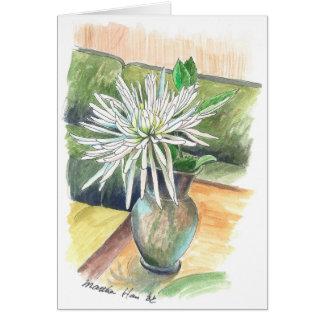 Tarjeta Un solo crisantemo