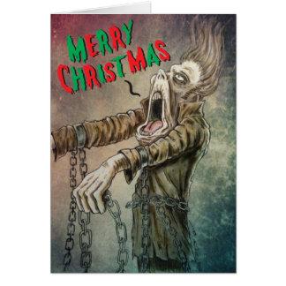 Tarjeta Un villancico de las Felices Navidad del fantasma