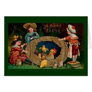 Tarjeta Un vintage feliz Pascua de Pascua