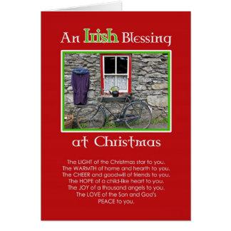 Tarjeta Una bendición irlandesa en el navidad