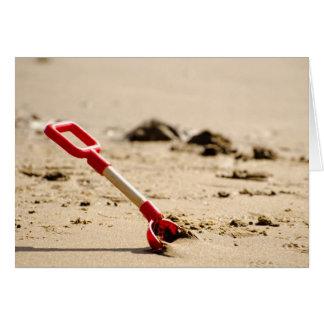 Tarjeta Una espada de la playa