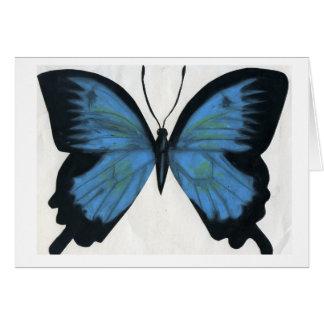 Tarjeta Una mariposa está hacia fuera © para Pascua