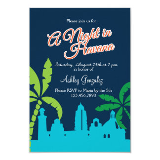 Tarjeta Una noche en La Habana