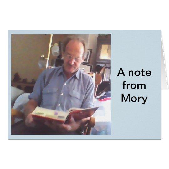 Tarjeta Una nota de Mory.