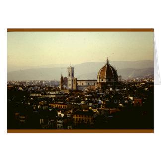 Tarjeta Una visión sobre Florencia