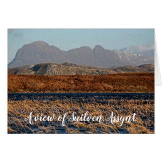 Tarjeta Una vista de Suilven, Assynt, personalizado