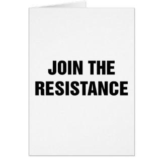 Tarjeta Únase a la resistencia