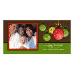 Tarjeta única de la foto de Oraments del navidad d Tarjetas Fotográficas Personalizadas