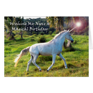 Tarjeta Unicornio, cumpleaños para la sobrina, sueño