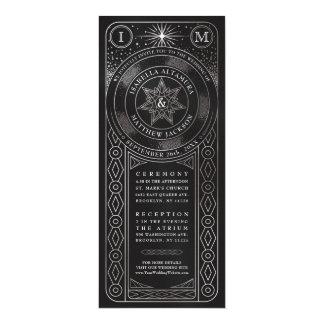 Tarjeta Unión celestial que casa Invitiations (plata alta)