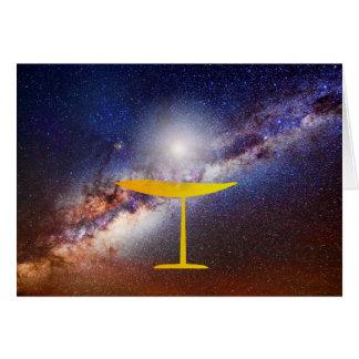 Tarjeta universalista unitaria del solsticio de