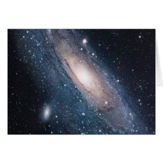 Tarjeta universo del cosmos de la vía láctea de la galaxia