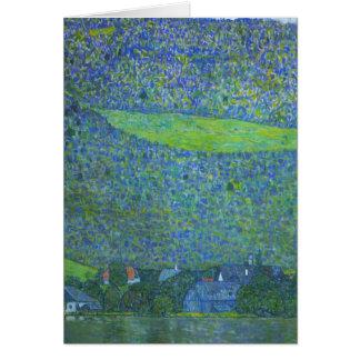 Tarjeta Unterach en Attersee por Klimt, arte Nouveau del