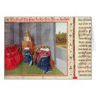 Tarjeta Urbano II que predica la cruzada en Clermont