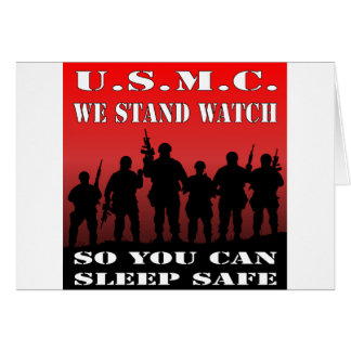 Tarjeta USMC colocamos el reloj así que usted puede dormir