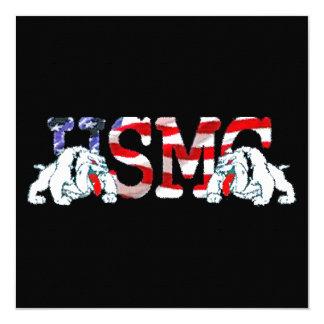 Tarjeta ¡USMC - perros de diablo - OoRah arrogante!