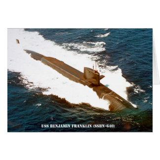 TARJETA USS BENJAMIN FRANKLIN