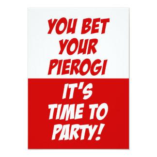 Tarjeta Usted apostó que su Pierogi es hora de ir de