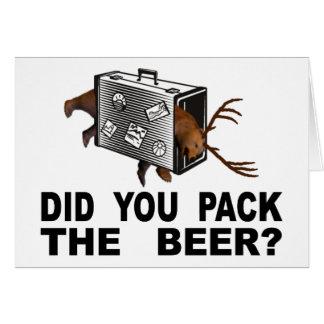 Tarjeta ¿Usted embaló la cerveza?