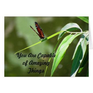 Tarjeta Usted es capaz de sorprender las cosas - monarca