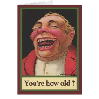Tarjeta ¿Usted es cómo es viejo? Cumpleaños