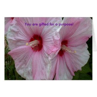 Tarjeta Usted es dotado para un propósito