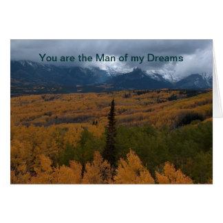 Tarjeta Usted es el hombre de mis sueños
