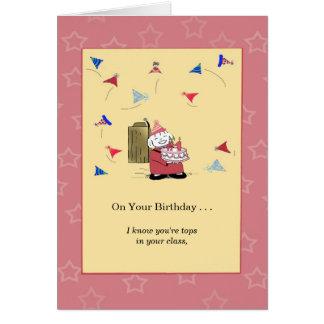 Tarjeta Usted es el número uno conmigo - cumpleaños