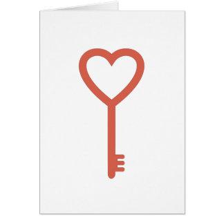 Tarjeta Usted es la llave a mi corazón