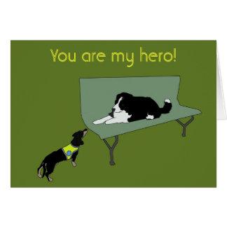 Tarjeta ¡Usted es mi héroe!