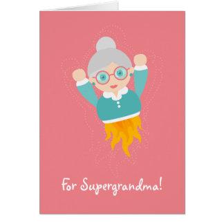 Tarjeta ¡Usted es nuestra abuela del super héroe! Versión