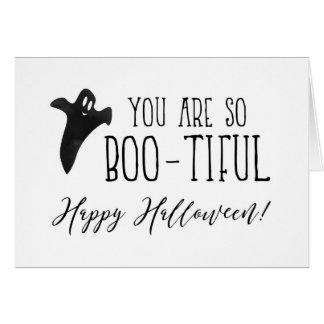 Tarjeta Usted es tan feliz Halloween del Abucheo-tiful