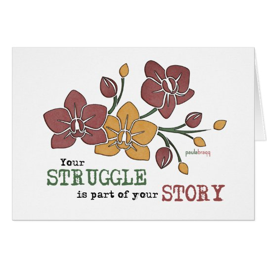 Tarjeta Usted lucha es parte de su cita de la recuperación