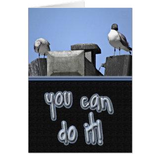 Tarjeta Usted puede hacerlo los pájaros