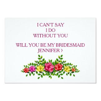 Tarjeta ¿Usted será mi dama de honor?