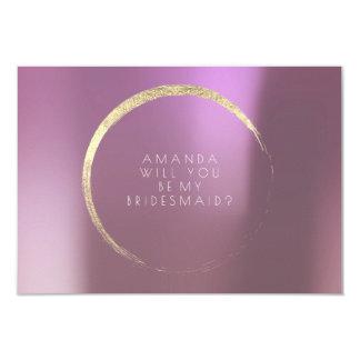 Tarjeta Usted será mi oro de color de malva de la lila de