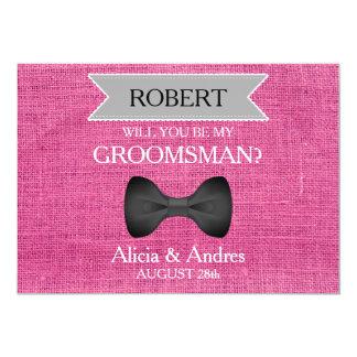 Tarjeta ¿Usted será mi padrino de boda? con el arco