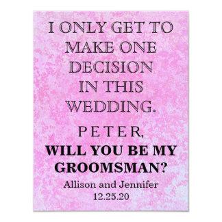 Tarjeta ¿Usted será mi padrino de boda? Personalizado