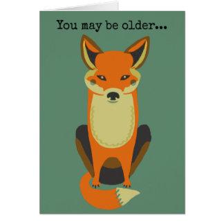 Tarjeta Usted sigue siendo un Fox