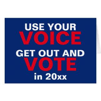 Tarjeta Utilice su voz y Año Nuevo del navidad del voto
