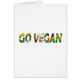 Tarjeta Va el vegano