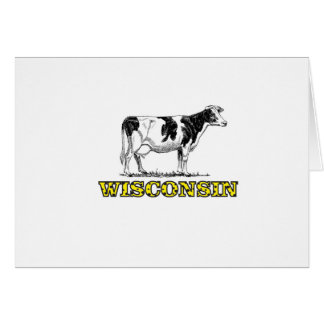 Tarjeta Vaca lechera de Wisconsin