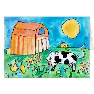 Tarjeta Vaca • Nick Abrams, edad 15