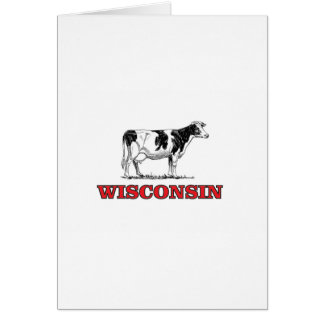 Tarjeta vaca roja de Wisconsin