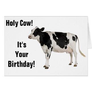 Tarjeta ¡Vaca santa! ¡Tarjeta de cumpleaños!