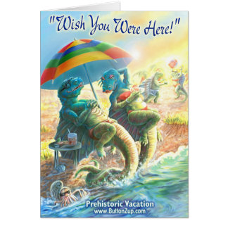 Tarjeta Vacaciones del dinosaurio