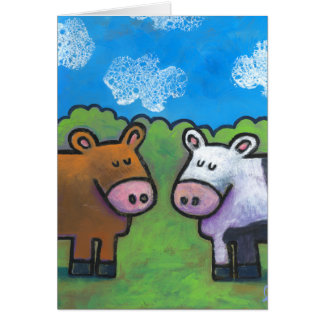 Tarjeta Vacas del país